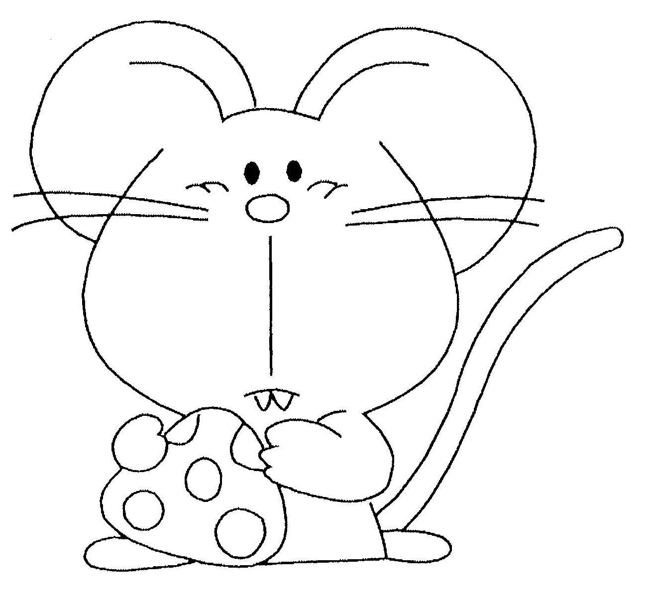 Coloriage souris page 6 for Papel para dibujar